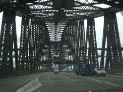 Driving across the Sydney Harbour Bridge. Thanks to Zoe for being such an awesome tour guide!